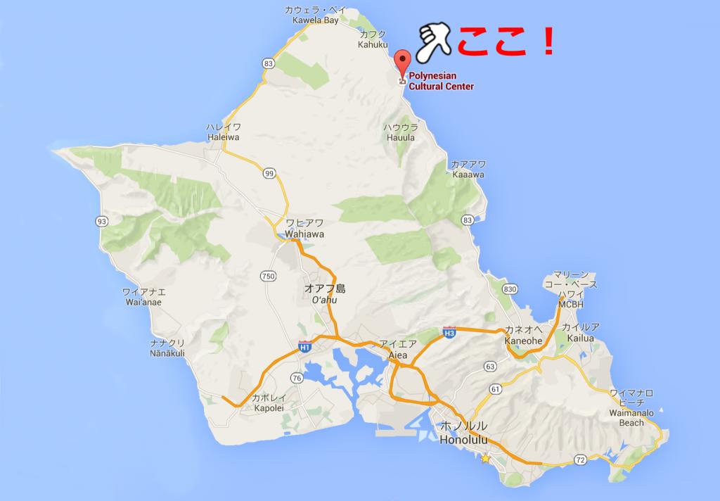 ポリネシアカルチャーセンター地図
