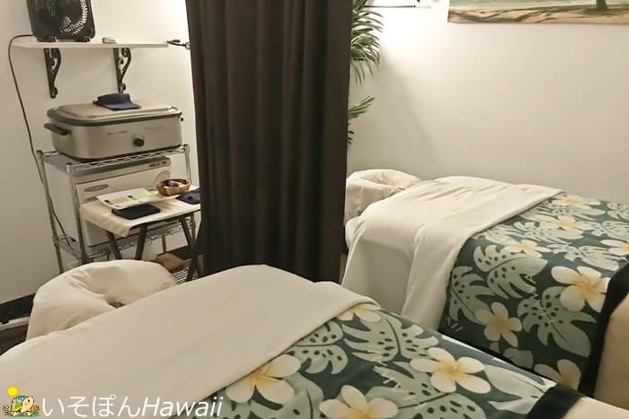 リフレハワイのマッサージルーム