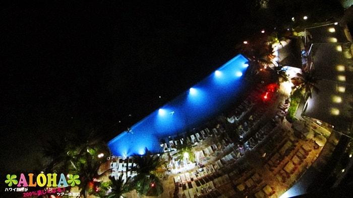 夜のインフィニティ・エッジ・プール1