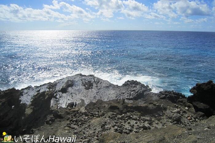 ハロナ潮吹き岩から見える太平洋の景色
