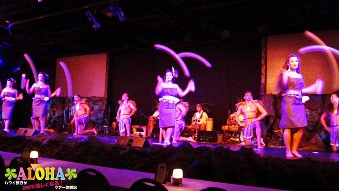 テ・モアナ・ヌイのショーの様子「衣装が多い」