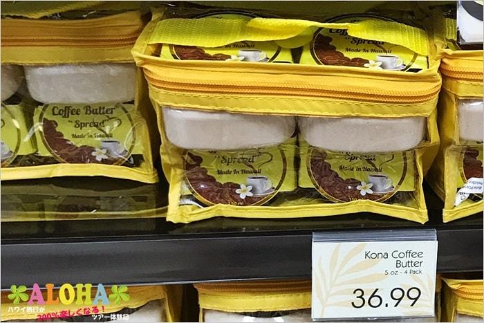 ABCストアのコナコーヒーバター4個パックの価格