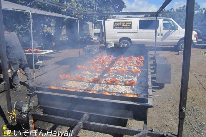フリフリチキンを焼いている画像
