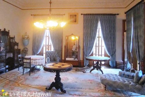 イオラニ宮殿「キングスベッドルーム」
