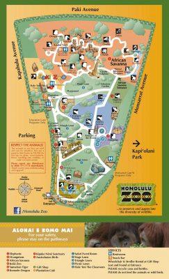 ホノルル動物園マップ