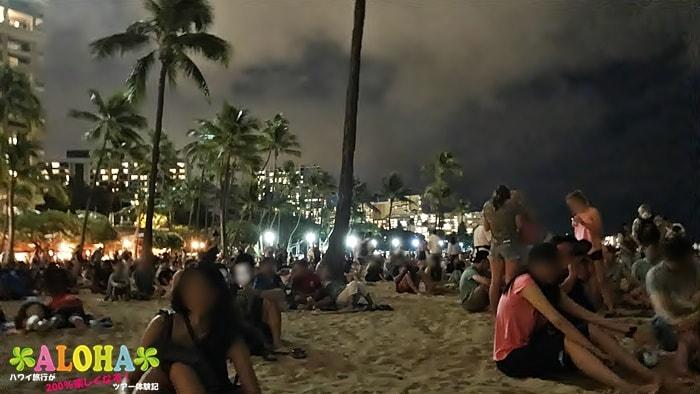 砂浜の混雑状況2