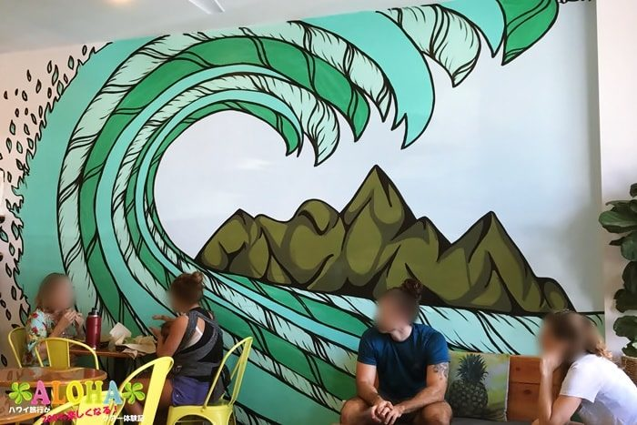 店内の壁画