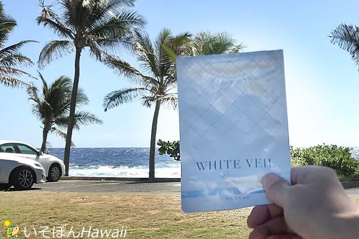 サンディビーチで撮影したホワイトヴェール
