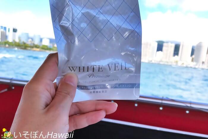 船で撮影したホワイトヴェール