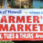 ファーマーズマーケット・ワイキキ・バンクオブハワイの幕